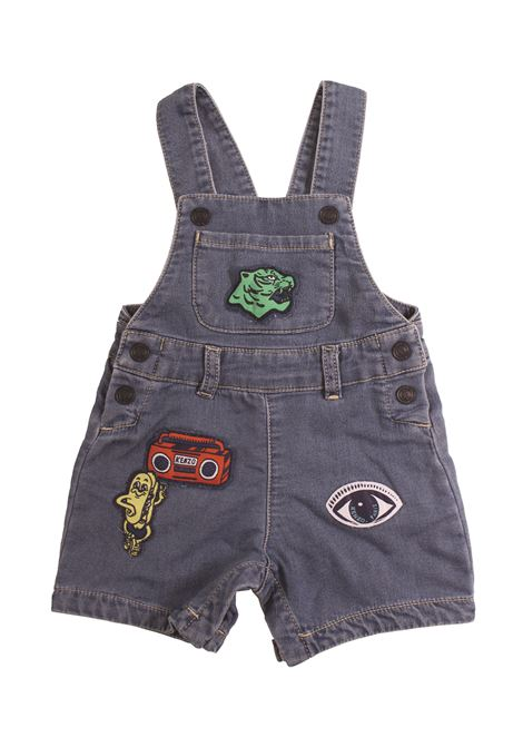 Newborn dungarees with patch KENZO KIDS | Salopette | KN2150746