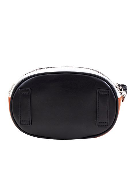 Pouch bag in faux leather and studs LA CARRIE | C-740-EP09