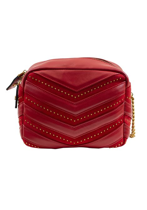 Bag in eco-leather, suede and studs LA CARRIE | D-240-ECC03