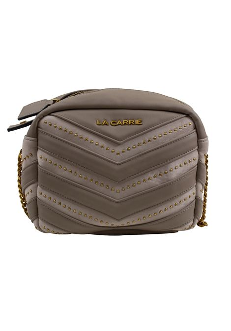Bag in eco-leather, suede and studs LA CARRIE | Bags | D-240-ECC05