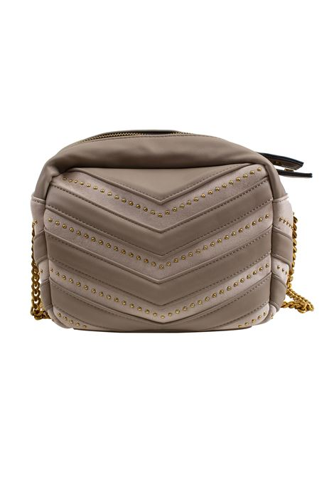 Bag in eco-leather, suede and studs LA CARRIE | D-240-ECC05