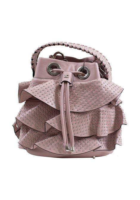 Bucket bag in faux leather and studs LA CARRIE | Bags | E-690-EP01
