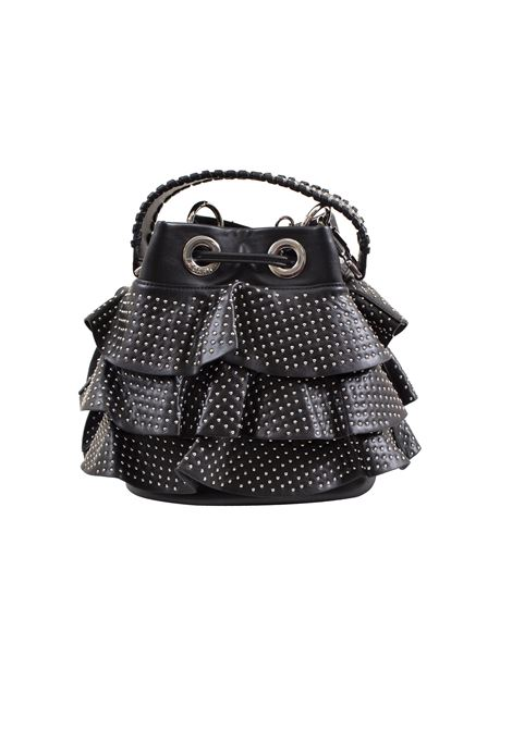 Bucket bag in faux leather and studs LA CARRIE | E-690-EP06