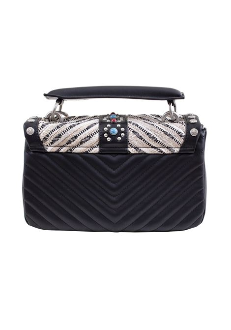 Faux leather and fabric bag LA CARRIE | L-570-TEP06