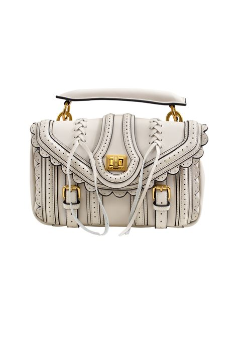 Faux leather bag with flap and weaving LA CARRIE | Bags | L-575-EP05