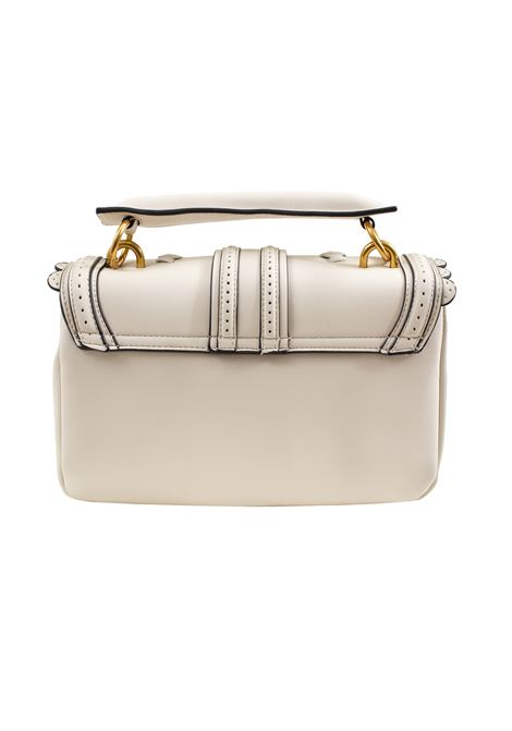 Faux leather bag with flap and weaving LA CARRIE | L-575-EP05