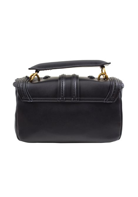 Faux leather bag with flap and weaving LA CARRIE | L-575-EP06