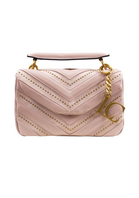 Borsa donna  in ecopelle e camoscio con pattina e borchie LA CARRIE | Borse | L-590-ECC01