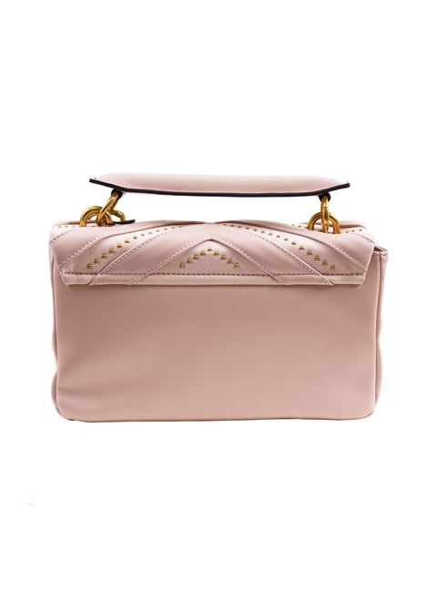 Faux leather and suede bag with flap and studs LA CARRIE | L-590-ECC01