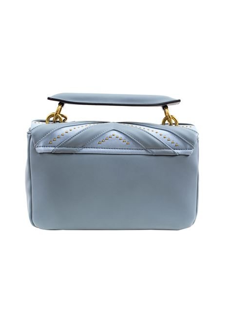 Faux leather and suede bag with flap and studs LA CARRIE | L-590-ECC07