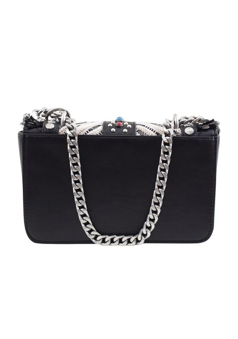 Faux leather and fabric bag LA CARRIE | P-820-TEP06