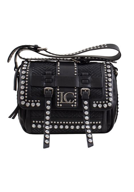Faux leather bag with studs and rhinestones LA CARRIE | Bags | R-370-EPR06