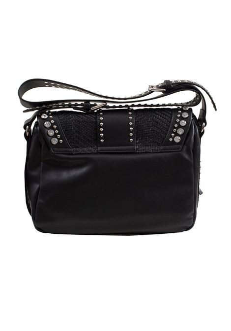 Faux leather bag with studs and rhinestones LA CARRIE | R-370-EPR06