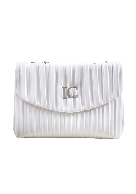 Pleated faux leather bag with flap LA CARRIE | Bags | W-440-EP02