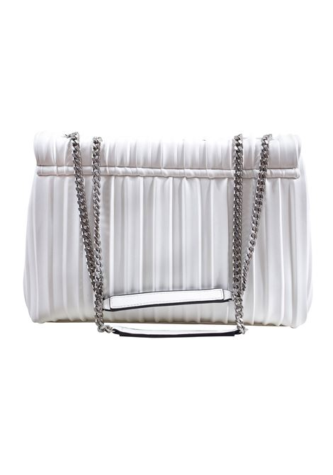 Pleated faux leather bag with flap LA CARRIE | W-440-EP02