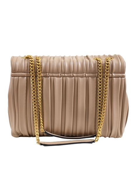 Pleated faux leather bag with flap LA CARRIE | W-440-EP05