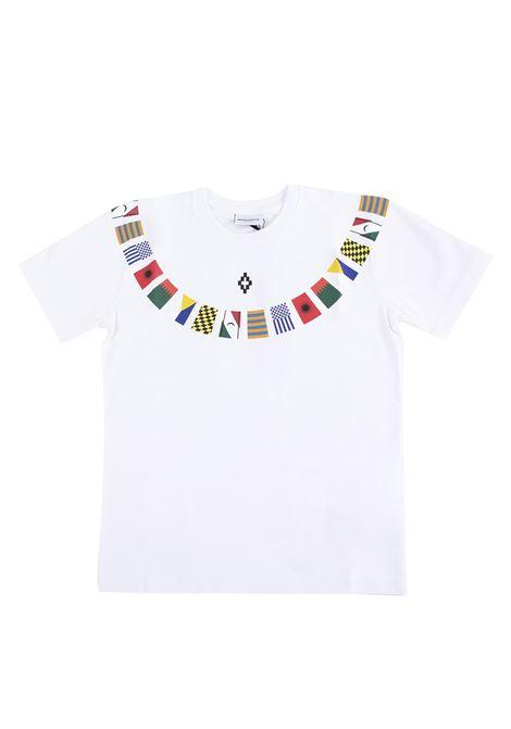 T-shirt bambino stampata flags MARCELO BURLON KIDS | T-shirt | 11100010B000