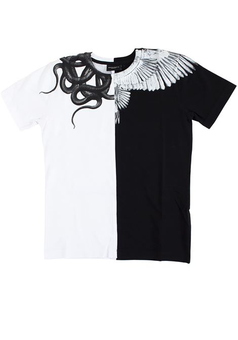 Two-colored children's t-shirt with print MARCELO BURLON KIDS | T-shirt | 11110010B010