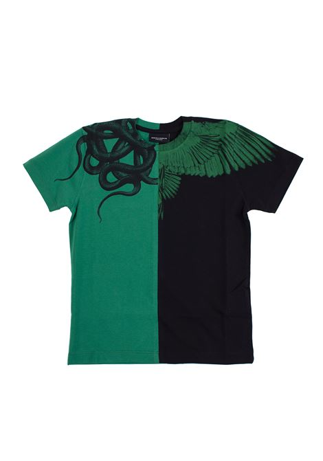 Two-colored children's t-shirt with print MARCELO BURLON KIDS | T-shirt | 11120010B010