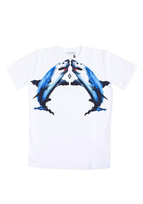 T-shirt bambino stampata squali MARCELO BURLON KIDS | T-shirt | 11170010B000