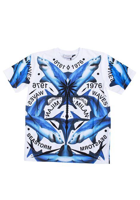 T-shirt bambino stampa squali MARCELO BURLON KIDS | T-shirt | 11190010B000