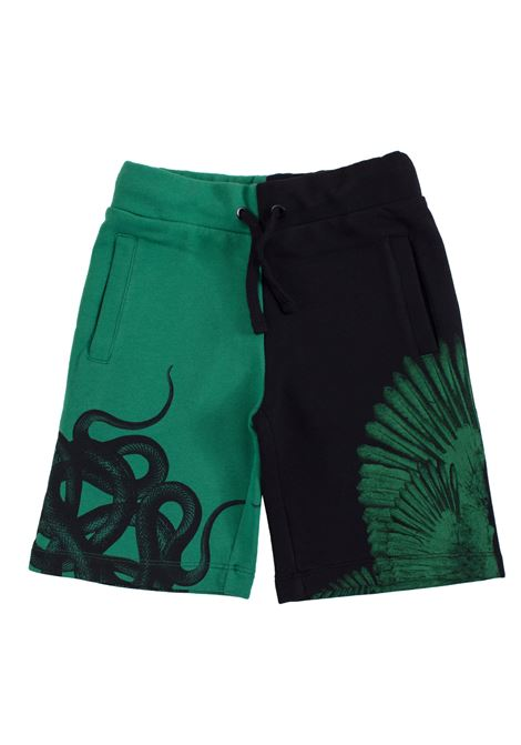 Two-colored printed bermuda shorts MARCELO BURLON KIDS | Bermuda | 32510010B010