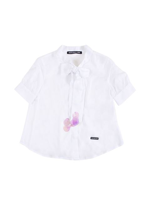Little girl shirt with bow at the neck MARCO BOLOGNA KIDS | Shirt | C016400