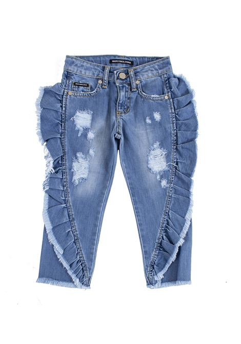 Girl jeans with side ruffles MARCO BOLOGNA KIDS | Jeans | D012910