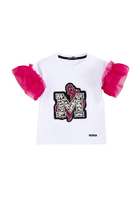 Little girl t-shirt with organza sleeves MARCO BOLOGNA KIDS | T-shirt | M018200