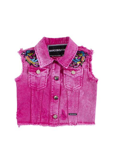 Little girl's vest in denim and sequins MARCO BOLOGNA KIDS | Gilet | O014012