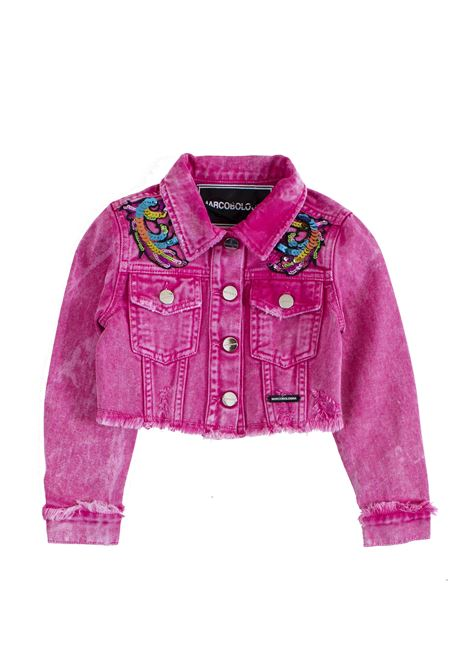 Little girl's jacket in denim and sequins MARCO BOLOGNA KIDS | Jacket | O014512