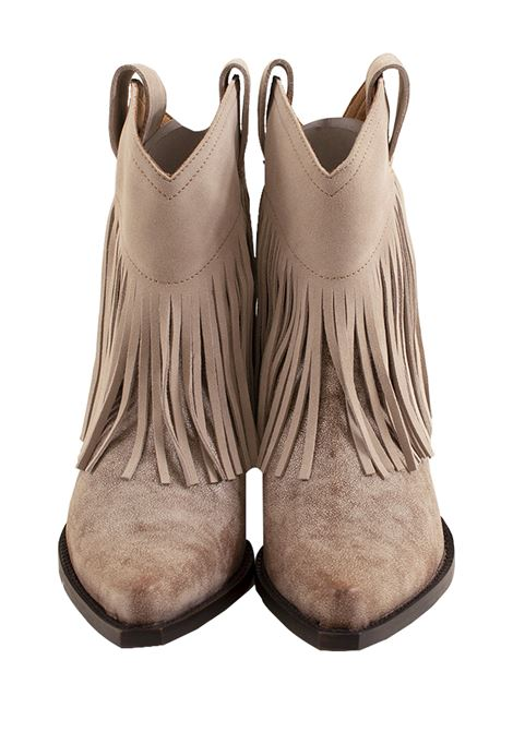 Woman ankle boot with fringe MATERIA PRIMA | Little boots | 3M7492B1016