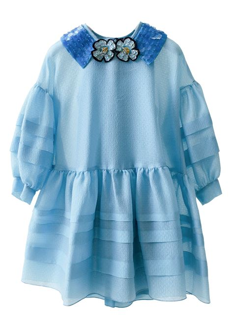Little girl dress with puff sleeves MIMISOL | Dress | 19E MF013ST 1401C301
