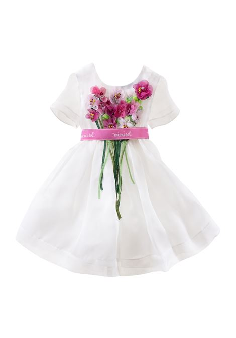 Little girl dress with belt MIMISOL | Dress | 19E MF035ST 3101B003