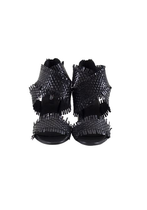 Sandal in braided and fringed leather MIMMU | Shoes | 567Z001