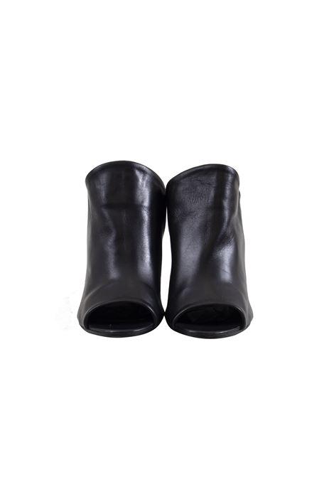 Scarpa con tacco in pelle nera spuntata avanti MIMMU | Scarpe | FK256Z104