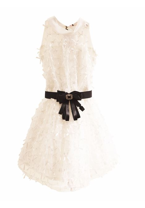 Little girl dress with belt PAOLA MONTAGUTI | Dress | E19C410 022001