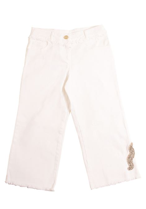 Girl trousers with application PAOLA MONTAGUTI | Trousers | E19S103 035001