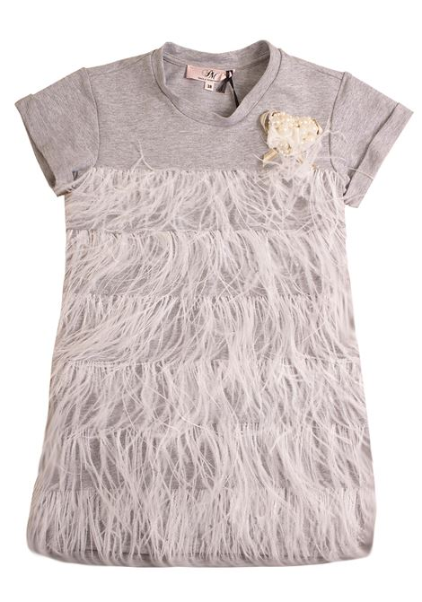 Little girl dress with feathers PAOLA MONTAGUTI | Dress | E19S406 060395