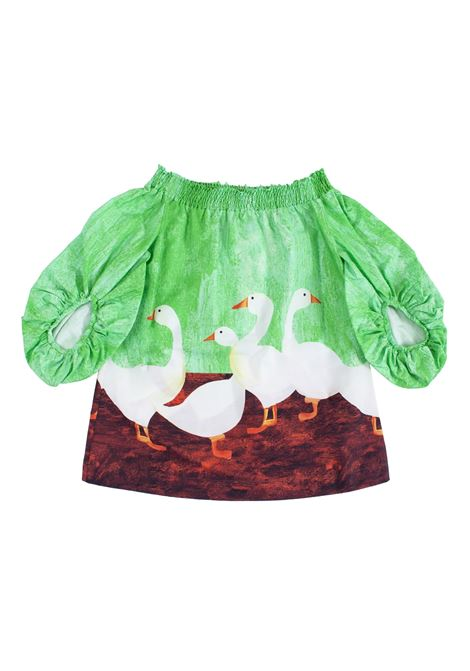 Little girl dress with geese STELLA JEAN KIDS | Dress | AB0203610305