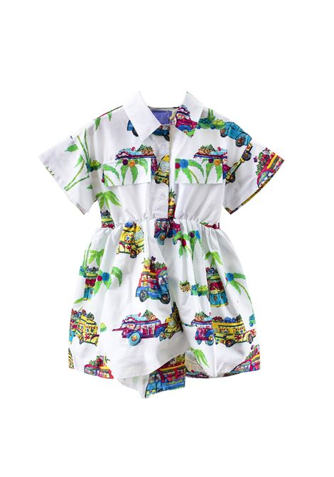 Girl's dress in printed cotton STELLA JEAN KIDS | Dress | AB2703670101