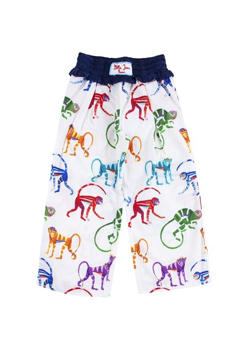 Girl's pants in cotton printed with monkeys STELLA JEAN KIDS | Trousers | PA0103590101