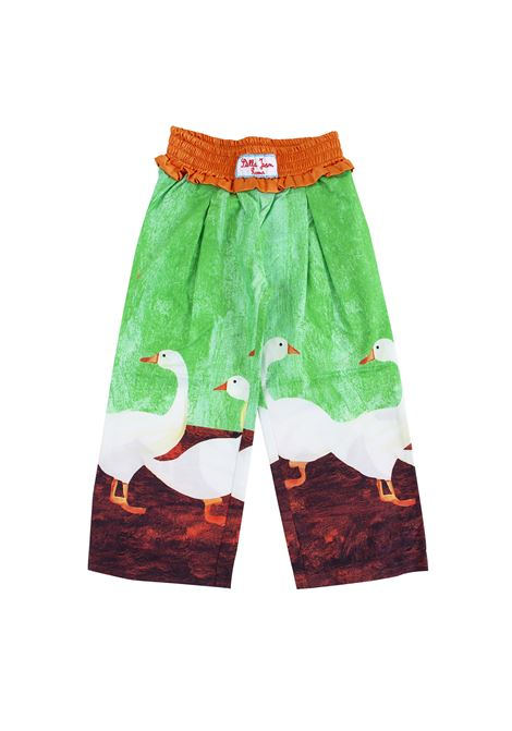 Girl trousers printed with geese STELLA JEAN KIDS | Trousers | PA0103610305