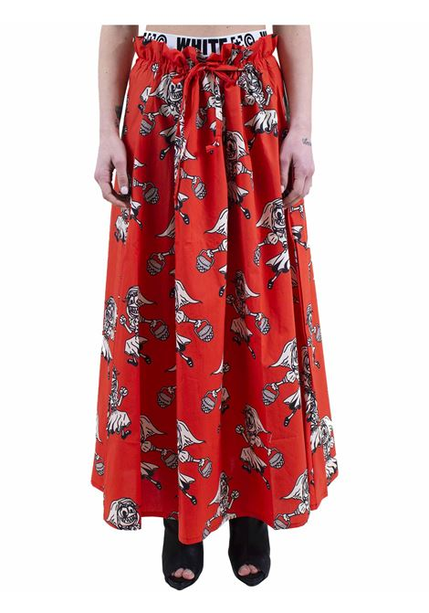Long printed women's skirt WHITE | Skirt | 162WGA07