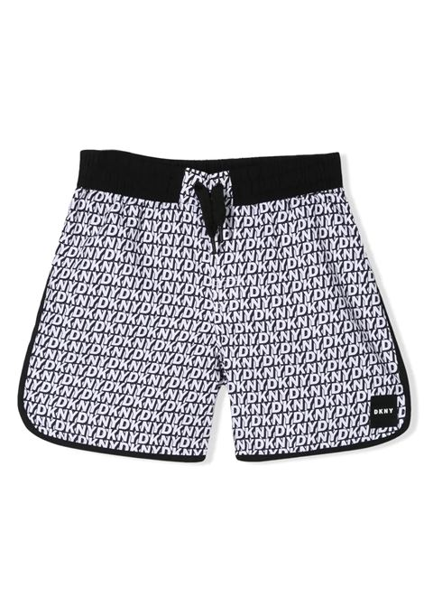 LOGO PRINT SHORTS DKNY KIDS | Swimsuits | D24715TM41