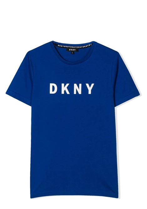 LOGO PRINT T-SHIRT DKNY KIDS | T-shirt | D25C76829