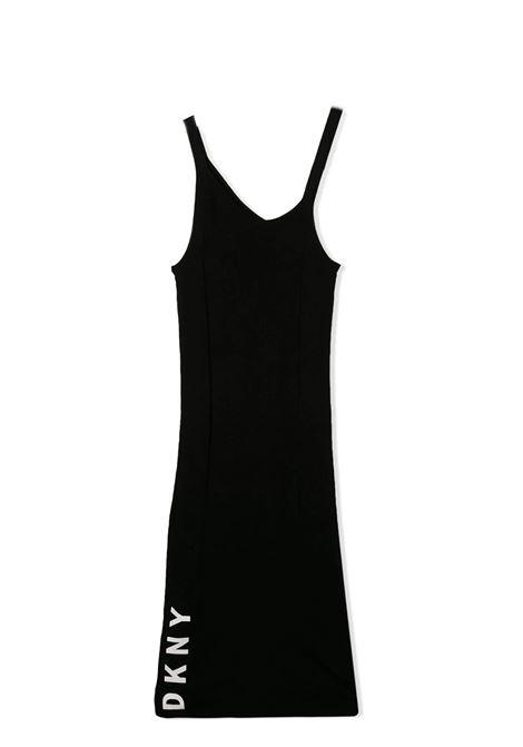 LOGO-PRINT ASYMMETRIC DRESS DKNY KIDS   Dress   D3274709B