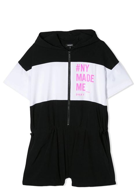 GRAPHIC-PRINT ZIPPED PLAYSUIT DKNY KIDS | Suits | D3498209B