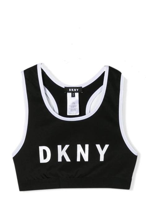 TOP SPORTIVO CON SCOLLO OLIMPICO DKNY KIDS | T-shirt | D35Q55T09B