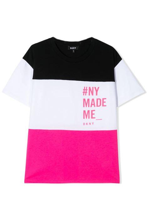 COLOR-BLOCK PRINTED T-SHIRT DKNY KIDS   T-shirt   D35Q64476